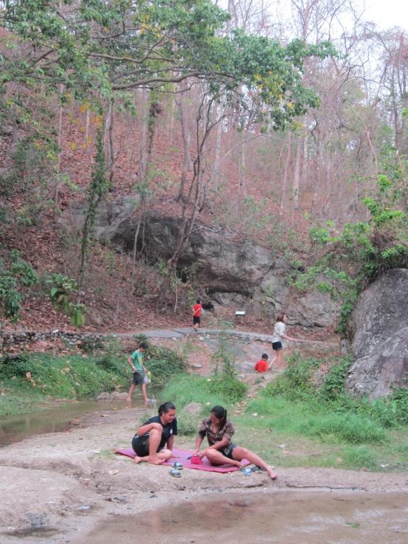 Thai people picnicking