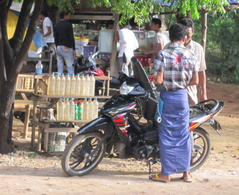 This is a petrol station in Bagan.