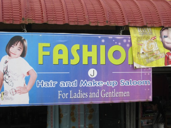 Mark wanted a haircut and was happy to go the Fashion: Hair and Make-up Saloom, but alas, it was closed.