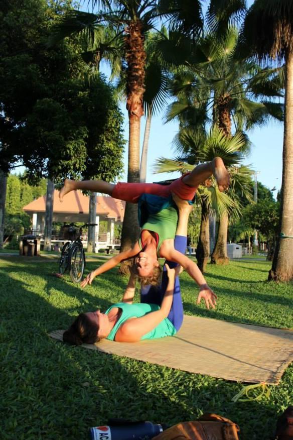 Acro yoga at the park