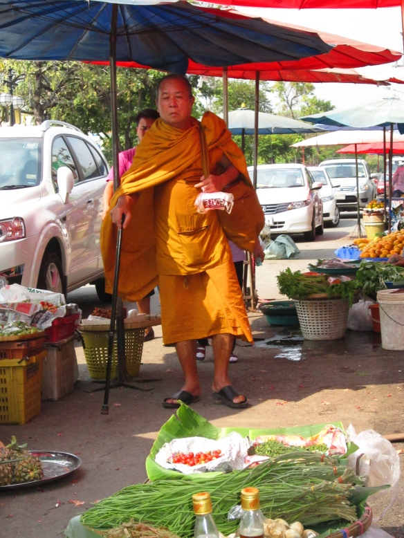 Monk at Chiang Mai Gate market