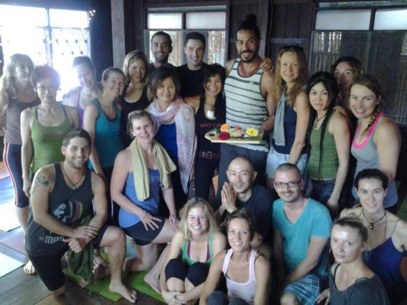 The celebrations continued with Rose's birthday vinyasa with Vari at Wild Rose...