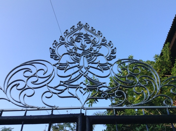 The lovely new detail to my gate.