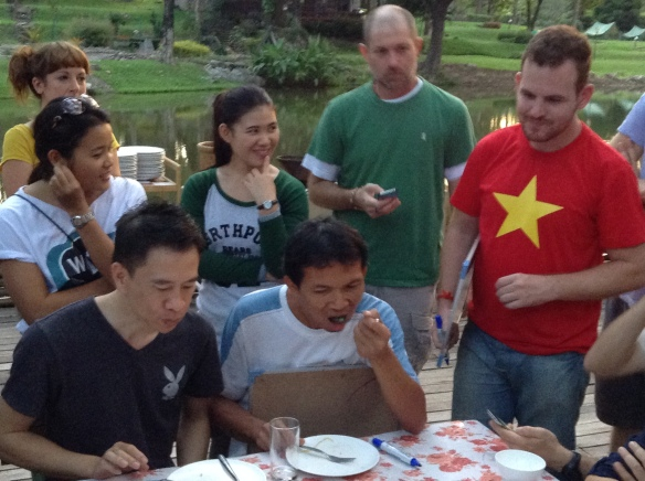 'Iron chef' cooking competition at our Doi Inthanon staff outing.