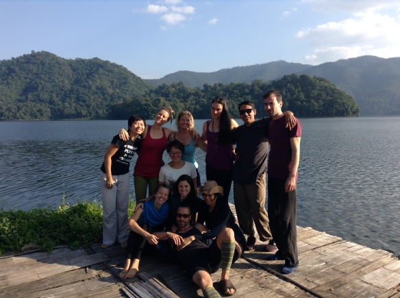 Angie, Dao, Heather, Balaram, Yan, Hannah, Sarra, Rose and Surya for our Om Waters retreat.