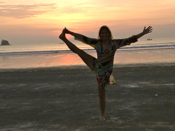 ...inspires sunset yoga.