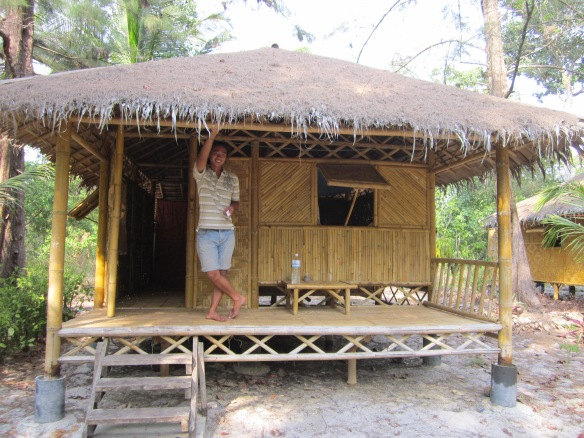 Our bamboo beach hut