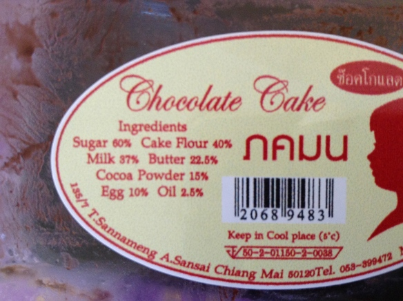 187% chocolate cake