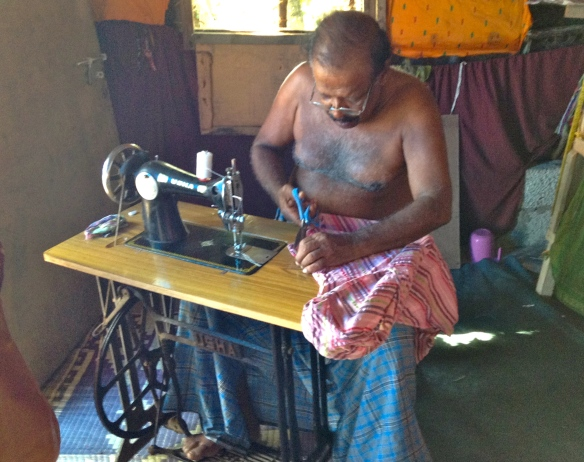 For the final day in Varkala, it was time to shop and have clothes made by the tailors .