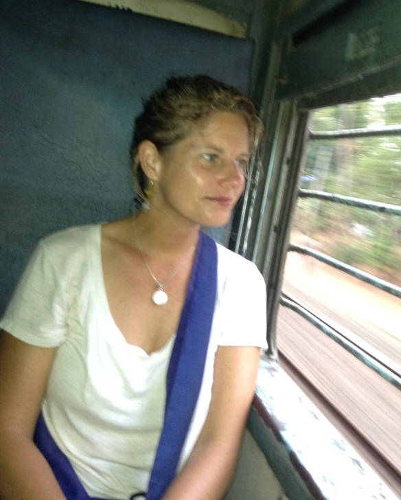 On the train headed to Alleppey...I think...