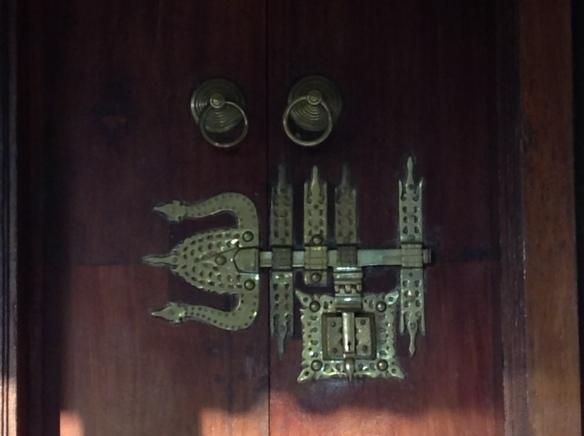 The door at Punnamada resort