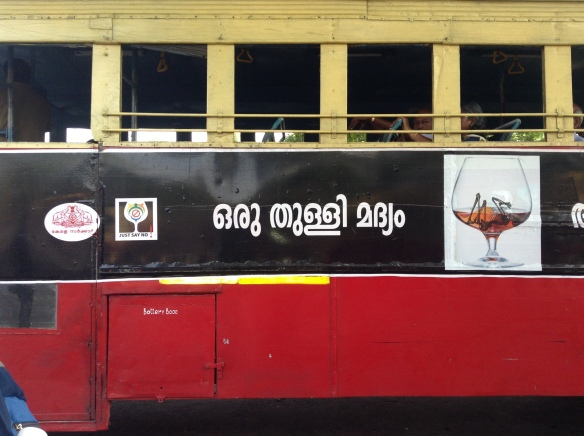 Our first bus to Munnar