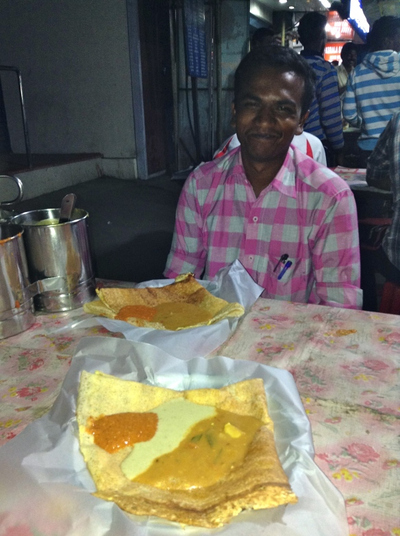 We met our helpful tour guide, Jegen, who had traveled 6 hours to and 6 hours back from work that day. We invited him to dinner and asked him to pick his favorite night food stall.