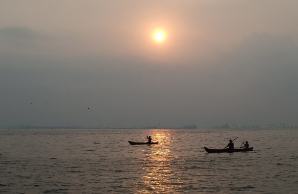 We stayed on the edge of the backwaters so it was a picturesque spot for sunrise