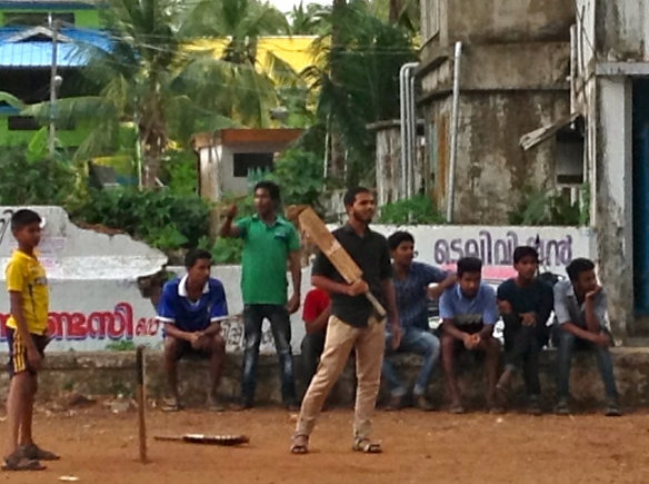 Strolling through town, we stumbled upon a cricket match