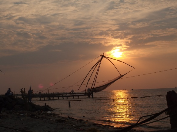 Gorgeous sunset in Fort Kochi