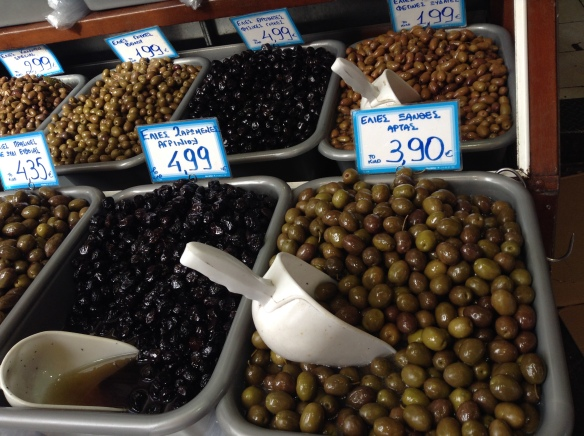 Olives at a local markt