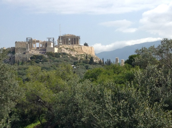 The Acropolis up on the hillside