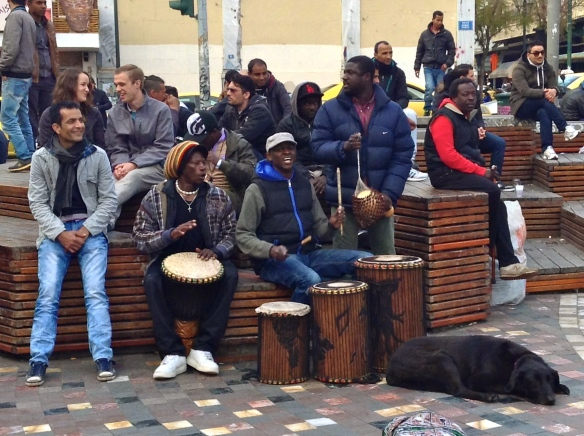 Street musicians at Monastiraki Square