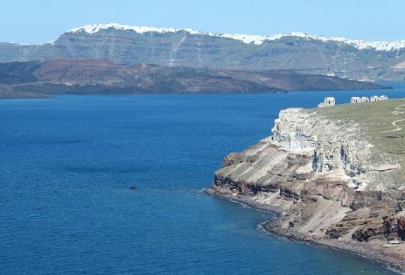 The caldera of Santorini