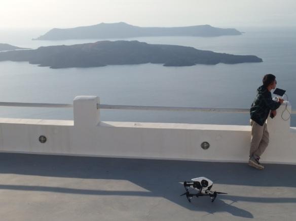 Movie wedding shot by drone