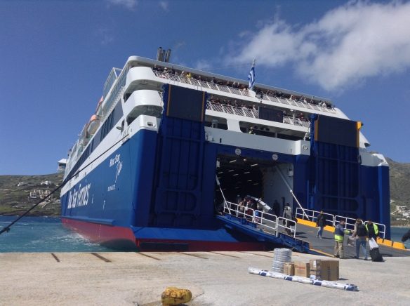 The enormous ferries with escalators inside