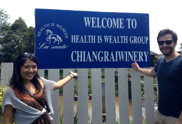 We were quite surprised to see Chiangraiwinery.