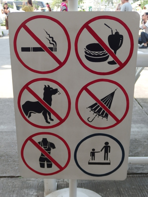 Not sure why umbrellas aren't allowed