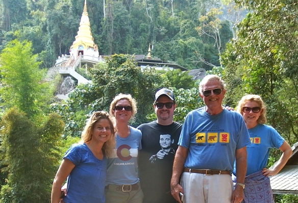 The wat up on the mountain in Chiang Dao.