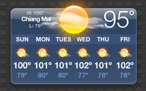 Chiang Mai is hot this time of year, so it was a good time to get away.